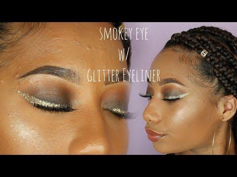 Smokey Eye w/Glitter Gold Eyeliner Tatyana Celeste ❤︎