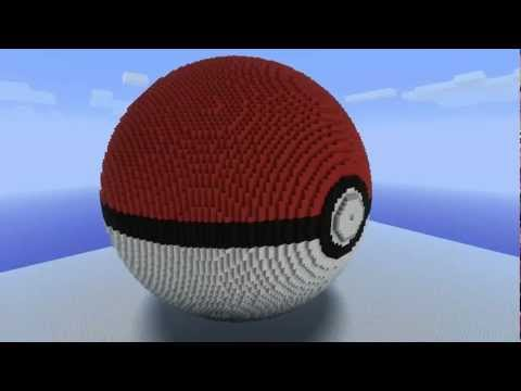 MINECRAFT: Largest Pokeball Ever.