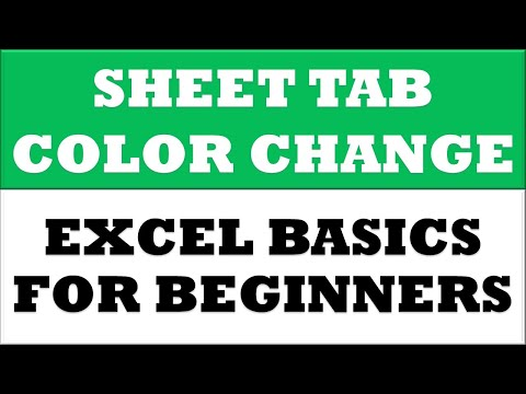 How to Change worksheet Tab Color in MS Excel 2016