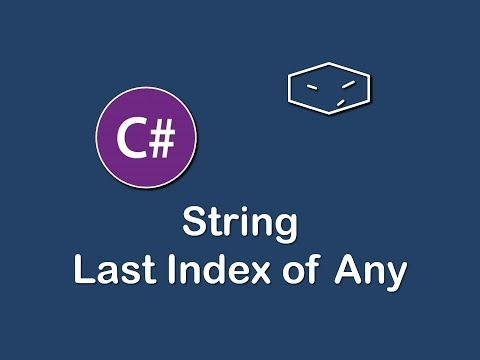 string last index of any in c#