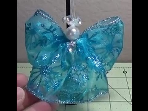 Make ANOTHER Simple, Beautiful Wired Ribbon Angel For Christmas!