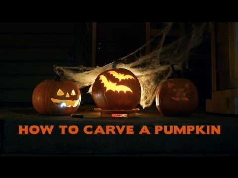 Pumpkin Carving Tips with a Template : Halloween Decor