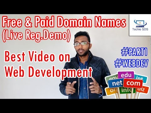 How to Register/Buy/Get Free and Paid Domain Name for a Website | What's the Difference | Techie SDS