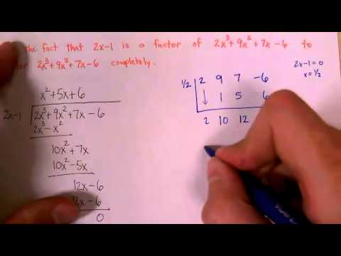 Synthetic Division Part 2