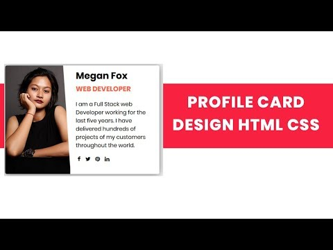 Profile Card Design with html and css | Profile UI Card Design with Flexbox