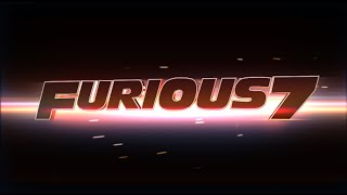 Furious 7 logo - After effects template