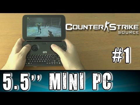 1# GPD Win Counter Strike Source test Portable Handheld Gaming Mini PC Intel X7 Z8700