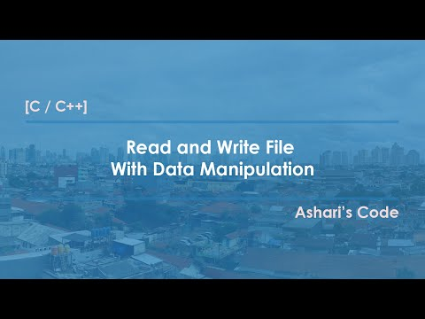 [C, C++] Read and Write File With Data Manipulation
