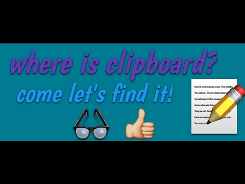 What and where is clipboard.?!😉😉
