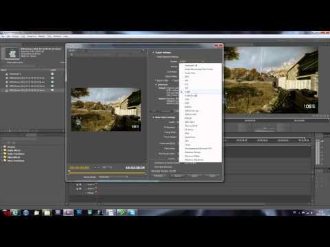 Adobe Premiere Pro CS5 Render settings