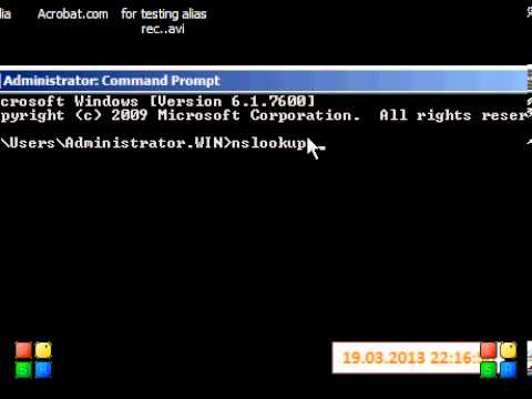 how to testing  ptr reco  in  windows server 2008