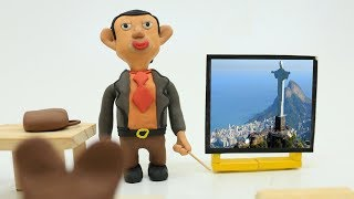 Mr Bean Seven Wonders in The World My Play Doh Stop Motion Cartoon Videos