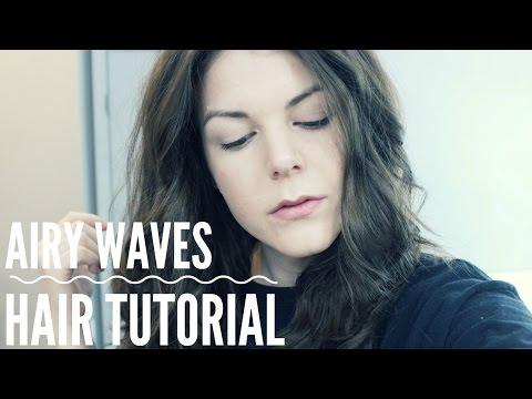 AIR DRIED BEACH WAVES   Hair Tutorial
