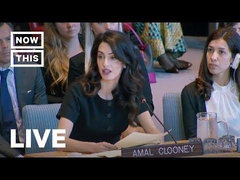 Xxx Mp4 Amal Clooney Addresses UN On Sexual Violence NowThis 3gp Sex