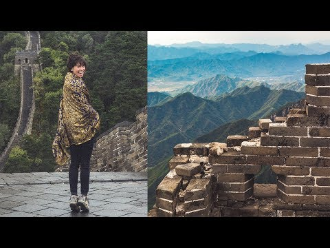 THE GREAT WALL OF CHINA! Abandoned vs New Section (Drone) | Sorelle Amore