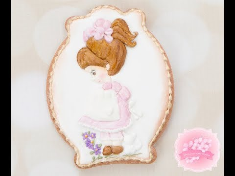 How to Create Inspired Royal Icing Dimensional Doll Cookie 🎀🖌️👧🏻