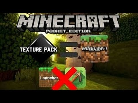 How to install texture packs into Minecraft pe without blocklauncher or Mcpe master [2016]