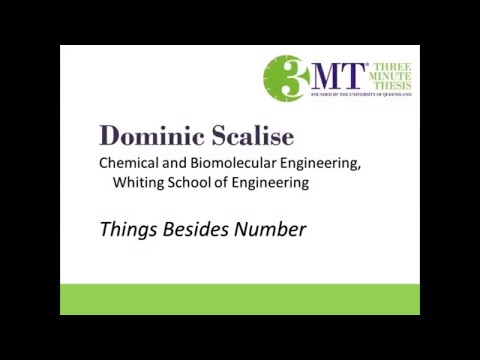 2018 Three Minute Thesis Finalist | Dominic Scalise