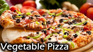 Vegetable Pizza No Yeast Pizza Pizza Without Oven Easy Panmade Pizza