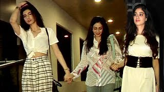 Sridevi Spotted With HOT Daughters Jhanvi & Khushi Kapoor In Bandra