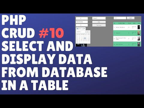 PHP ONLINE SYSTEM COMPLETE TUTORIAL PART 10 - SELECT AND DISPLAY DATA FROM DATABASE IN A TABLE