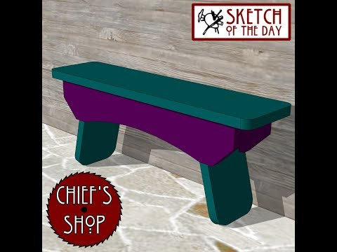 Chief's Shop Sketch of the Day: Craft Bench