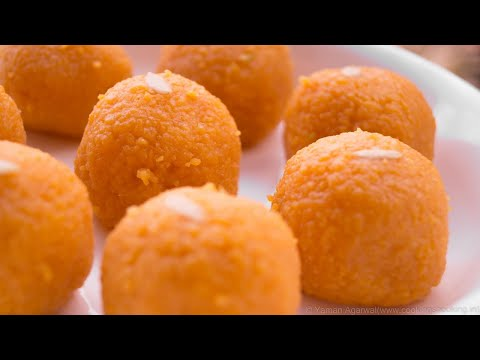 Motichoor Ladoo Recipe |  Indian Sweet Laddu | Homemade Indian Recipes | Hindi