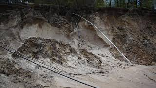 Catastrophic flood damage at Pioneer County Park in Muskegon