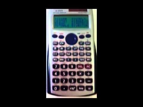 How to solve the quadratic equations with calculator Casio FX 115 es