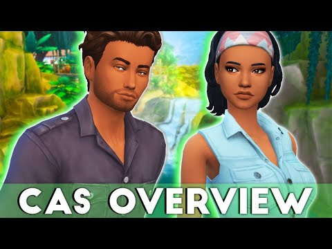 JUNGLE VIBE ON POINT🌴👚 // THE SIMS 4 | JUNGLE ADVENTURE – CAS OVERVIEW