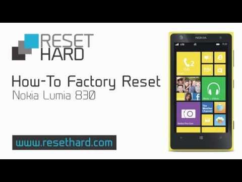 How To Factory Reset Nokia Lumia 830