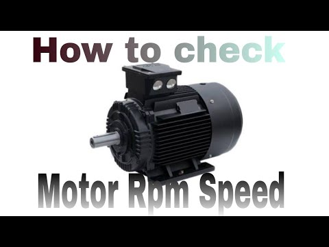How to check motor rpm or speed