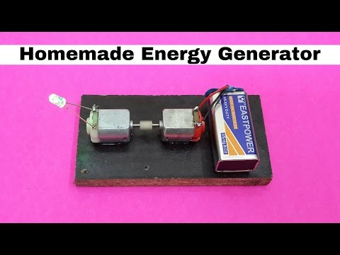 How to Make Homemade Mini Energy Generator using DC Motors
