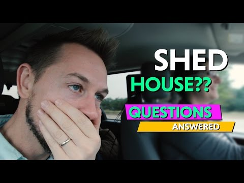 Converting a Derksen Shed into a Tiny House Questions Answered!  Q & A