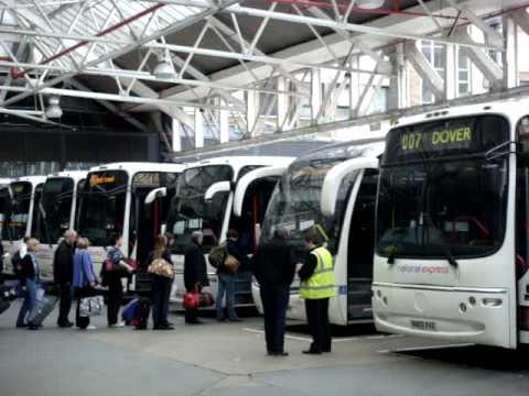 Victoria Coach Station in London,  United Kingdom by Travelgroupie.MPG MOV02666