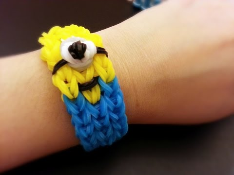 Minion DIY Colorful Loom Bracelet Tutorial ~ How To