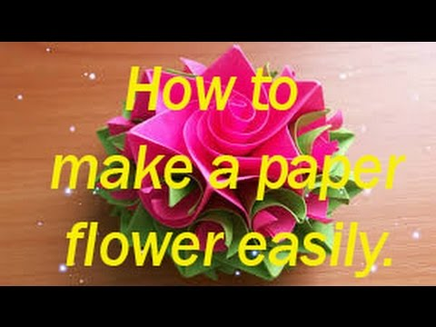 How to make creative craft with paper Part 1 Make a paper flower easy