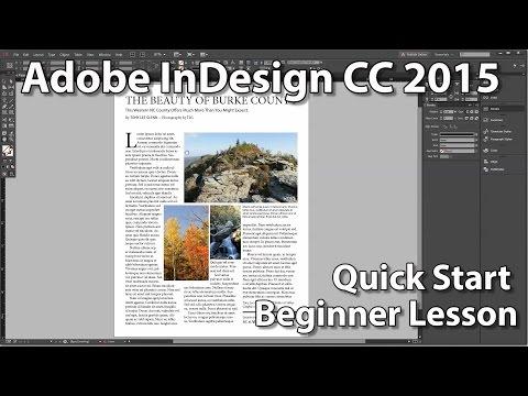 InDesign CC 2015 Beginner's Quick Start Lesson