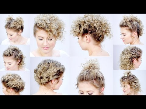 10 EASY HAIRSTYLES FOR SHORT HAIR with Curling Iron | Milabu