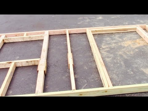 Framing Up A Shed Door And Window Wall