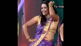 Sun TV serial actress hot navel show