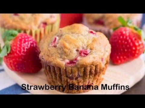 Strawberry Banana Muffins