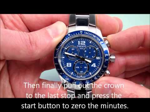 How to Reset a Typical Swiss Movement Watch's Chronograph