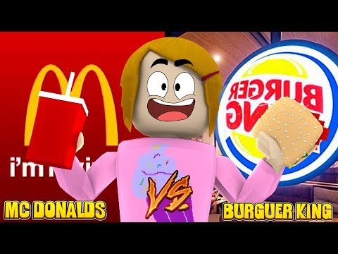 Roblox Roleplay - Baby Alive Outing! McDonalds Vs. Burger King! - The Toy Heroes