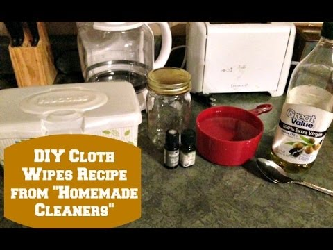 DIY Cloth Wipes Solution from