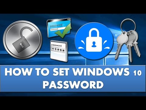 How to set password on windows 10?