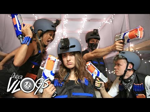 Nerf War in The Worlds Largest Blanket Fort! (Over 4000 feet!)