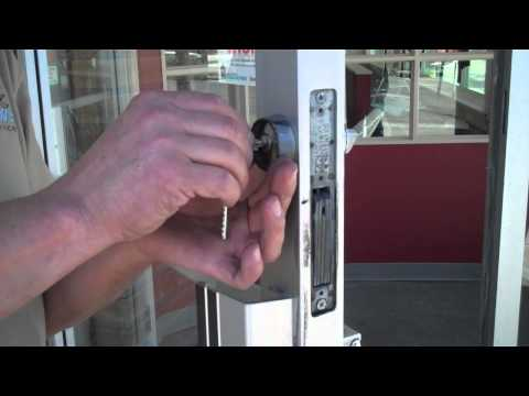 How to Replace a Key Cylinder in a Commercial Storefront Door