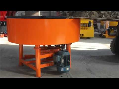 JQ800 fixed concrete pan mixer  lower investment big capacity