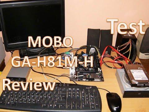 Motherboard Gigabyte GA-H81M-H Intel Core i5 4570TE 2.70ghz turbo 3.30ghz SR17Z Review & Testing